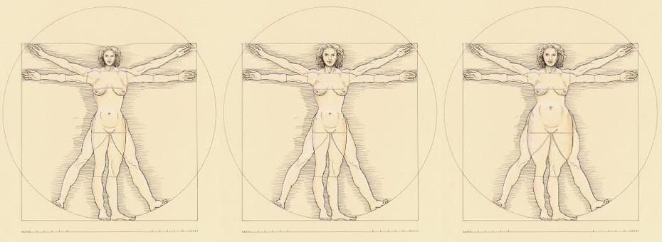 Vitruvianische Eva