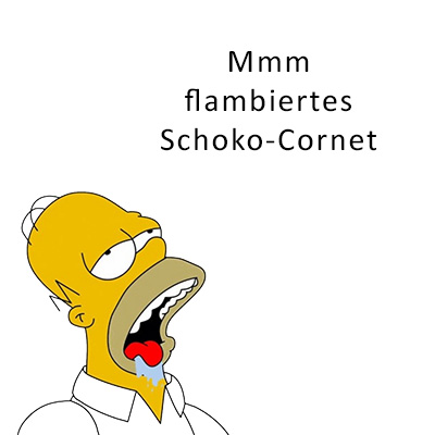 mmm flambiertes schoko-cornet